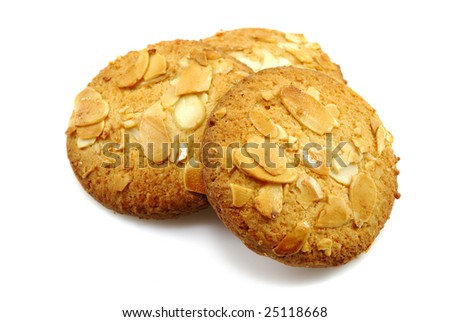 close-up photo of pastry with nuts - stock photo