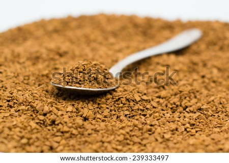 Close up picture of  a bowl of instant coffee - stock photo