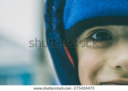 close-up portrait - stock photo
