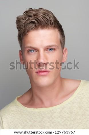 Close up portrait of a handsome businessman - stock photo