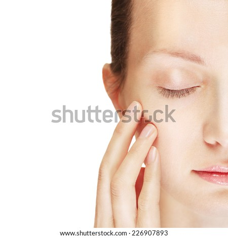 Close-up portrait of girl  - stock photo