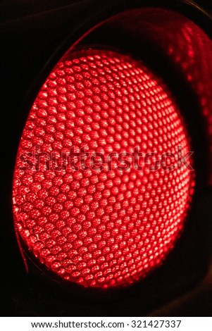 Close up Red Traffic lights at night - stock photo