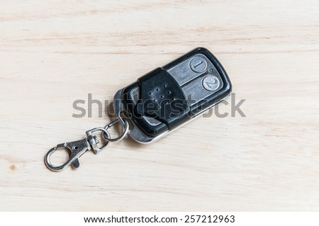 Close up  remote control car key - stock photo
