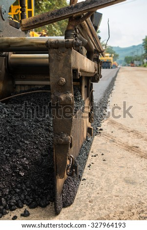 Close-up road under construction.  - stock photo