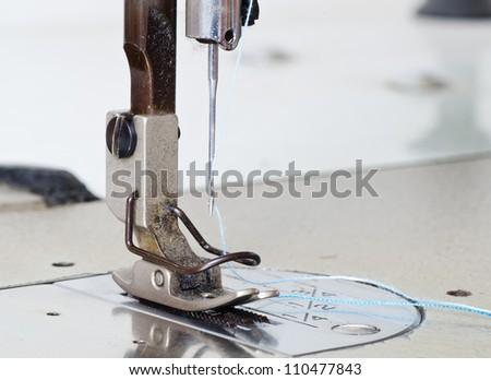 Close up sewing machine. - stock photo