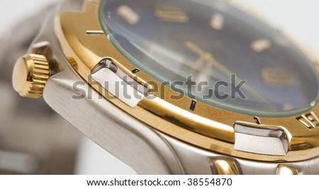 close up shot of a beautiful watch - stock photo