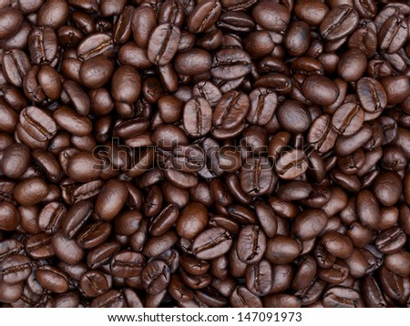 close up shot of coffee background - stock photo