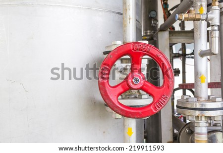 close up shot of commercial control valve  image. - stock photo