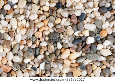 Close-up shot of quartz stones. Natural stones texture. - stock photo