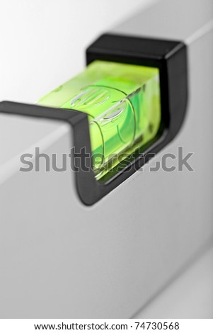 close up shot of spirit level for construction work - stock photo