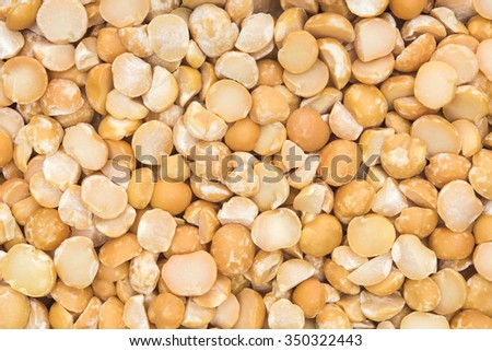 close up shot of split peas background - stock photo