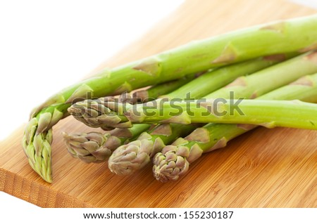 Close-up shot of the green asparagus - stock photo