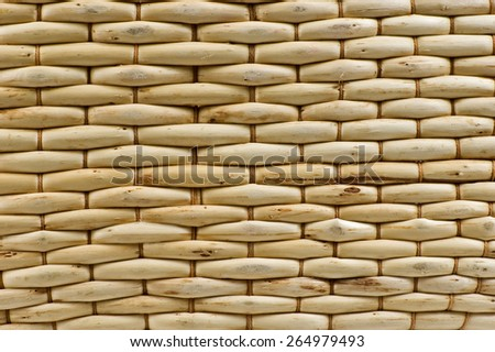 Close Up Shot Of Tightly Woven Wicker/ Wicker Background - stock photo