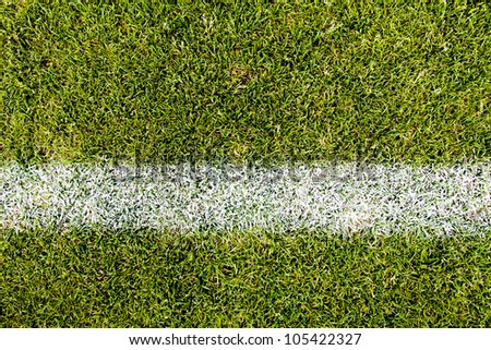 close-up shut of a soccer field surface - stock photo