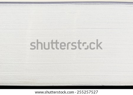 close up side view of stack papers - stock photo