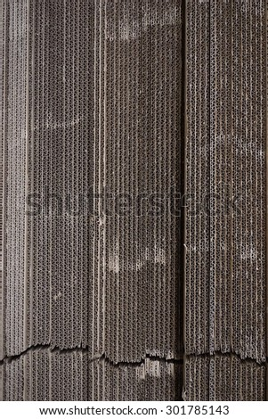 close up stack of corrugated paperboard texture for background used - stock photo