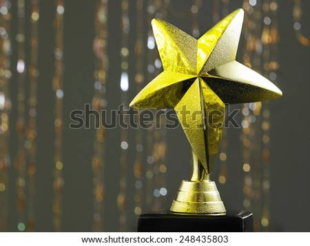 Close up star shape trophy - stock photo