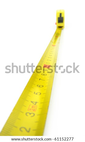 Close-up tape measure, - stock photo