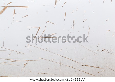 close-up texture isolated mud splashes by car in natural lighting - stock photo