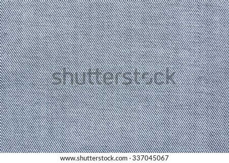Close up texture of blue jean or denim fabric inside out - stock photo