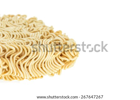 Close up texture of instant noodle for background - stock photo