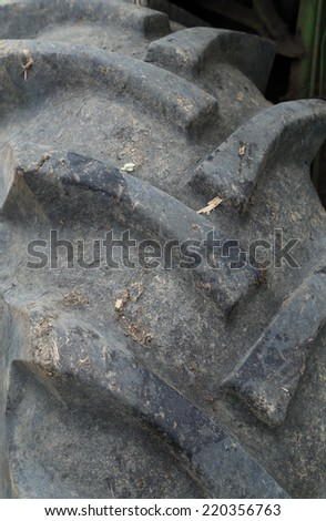 close up texture of Tractor Tyre (Tire)  - stock photo