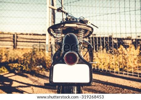 Close-up to motorbike - stock photo