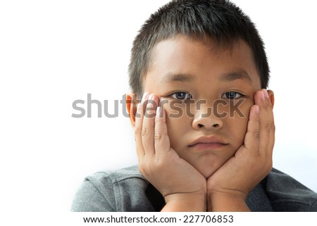 Close-up, Upset children - stock photo