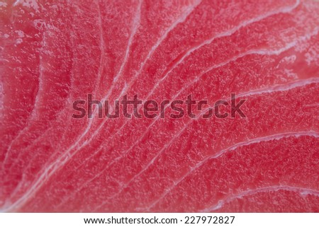 Close up view of a raw tuna steak. - stock photo