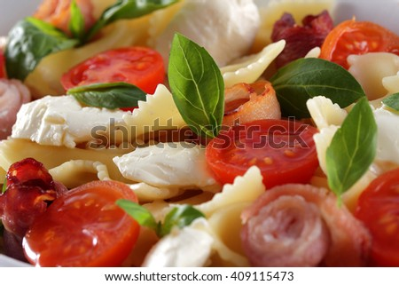 Close up view of fresh and very tasty pizza - stock photo