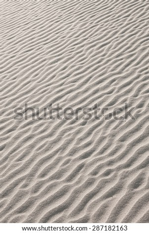 close up view of nice hot sands dunes  - stock photo