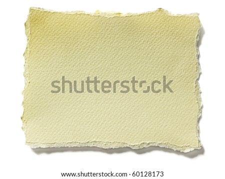 Close up view of torn piece of paper for message - stock photo
