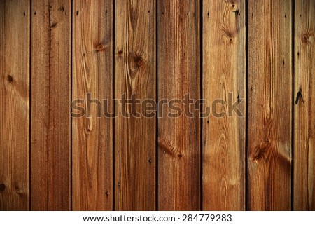 Close-up View of Wooden Panels - stock photo