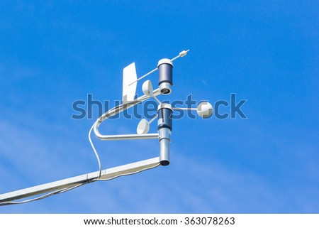 close - up weathercock of weather station - stock photo