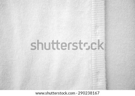 Close up white color Silk carpets texture - stock photo