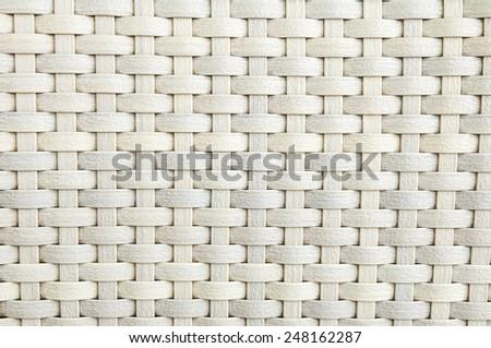 close up - woven bamboo - stock photo