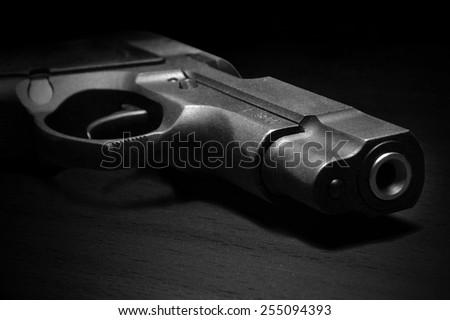 close view of handgun  - stock photo