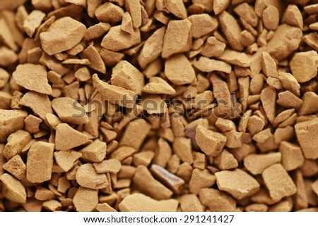 Close view of instant coffee - stock photo