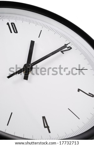 Close view of wall clock - stock photo