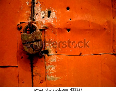 Closed - stock photo