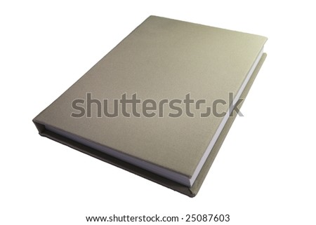 closed book isolated on white - stock photo