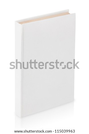 Closed book with clipping path isolated on white background - stock photo