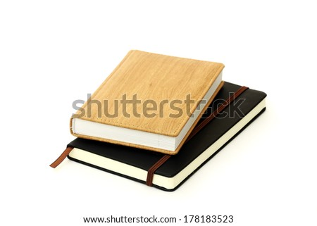 Closed dairy books - stock photo