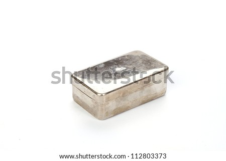 closed metal box - stock photo