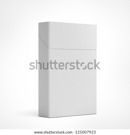 Closed pack of cigarettes isolated on a white background - stock photo