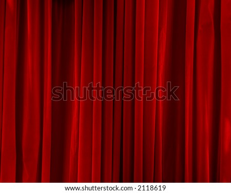 Closed red large luxury clean velvet background - stock photo
