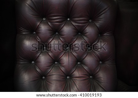 Closed-up of the old american brown leather. - stock photo