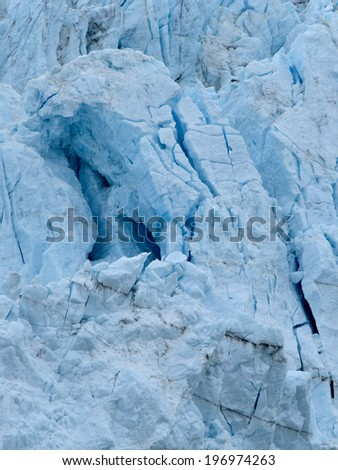 Closer View of the Face of Margerie Glacier - stock photo