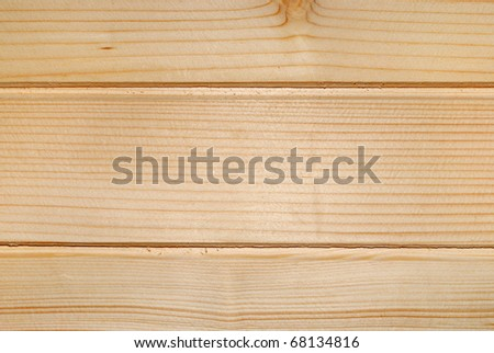 Closeup background from raw even smooth wood - stock photo