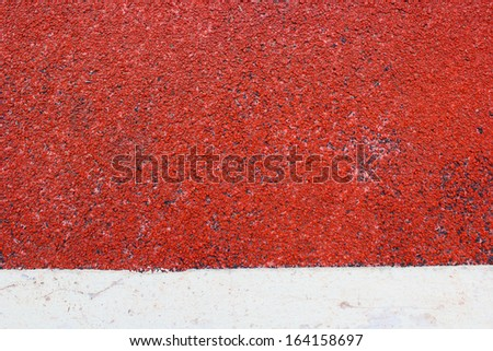 Closeup, background track runners - stock photo